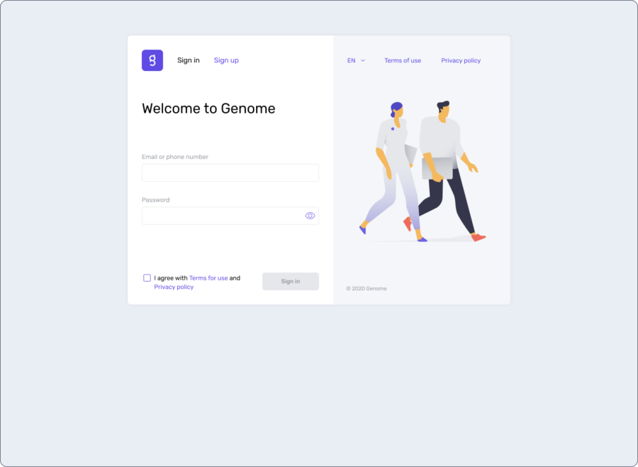 How to sign in to Genome