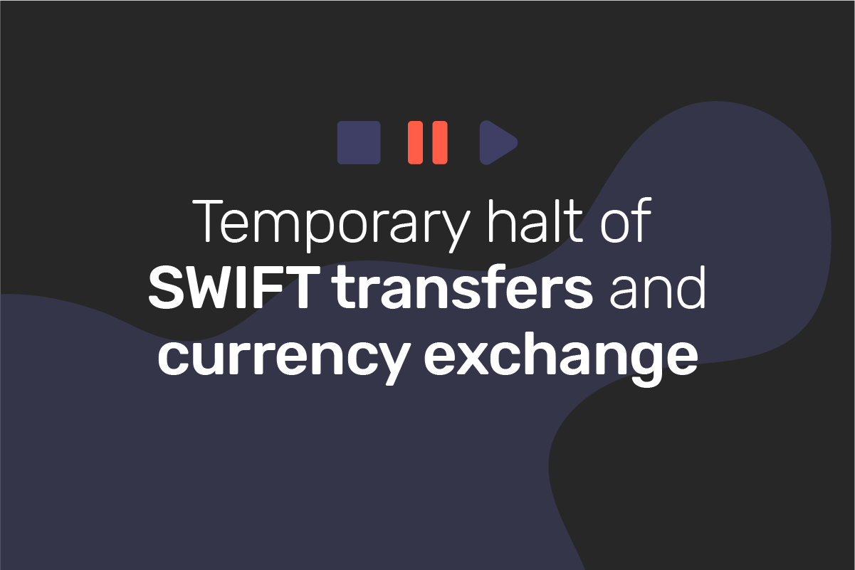 Genome has to temporarily halt SWIFT transfers and currency exchange