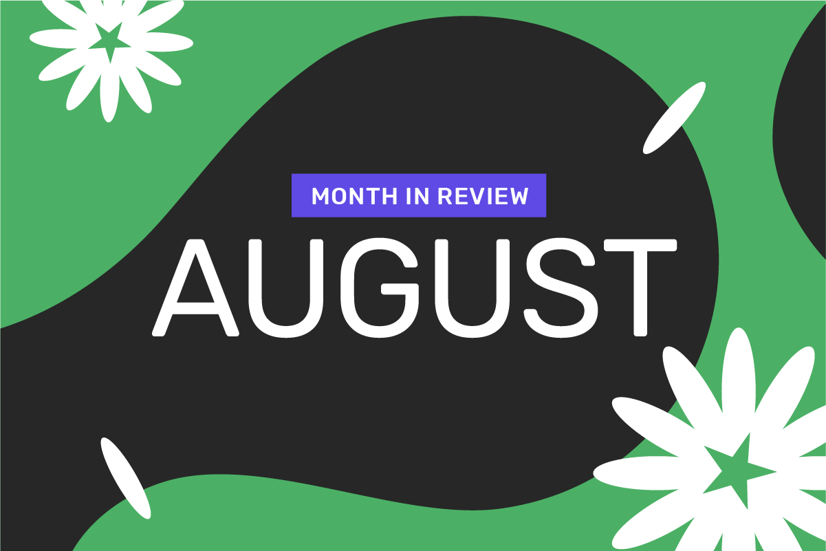 Genome's month in review: August