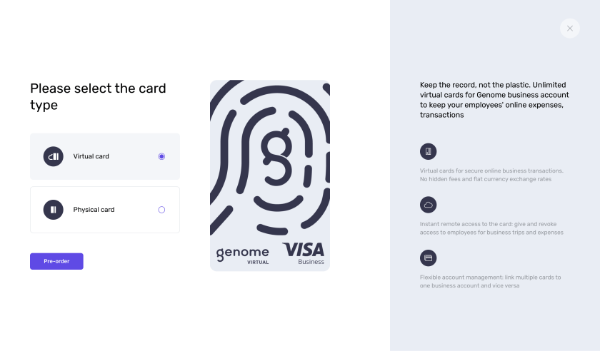 Genome's cards pre-order: choose the card