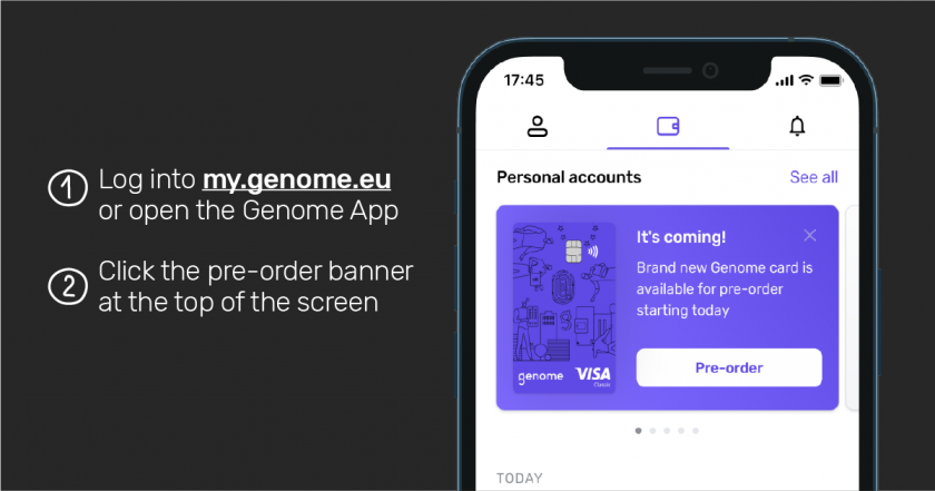 How to access the card pre-order at Genome