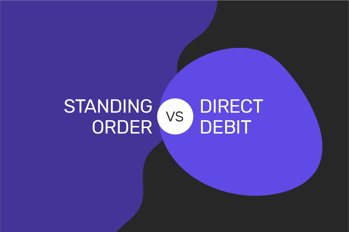 Difference between a standing order and direct debit