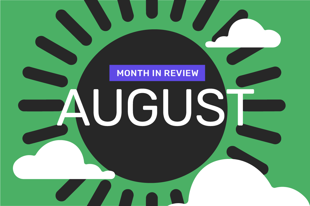 Genome's month in review: August 2021