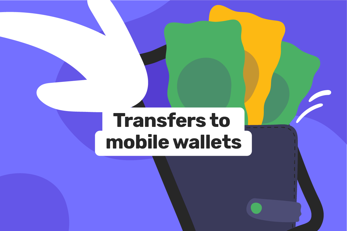 Money transfer to a mobile money wallet